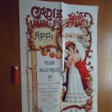 Carteles Feria: CARTEL ORIGINAL VELADA DE LOS ANGELES CADIZ 1991. Lote 72460371