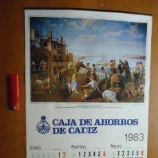 Carteles Feria: CARTEL - 1983 CARTELES CALENDADARIO CON VISTAS ANTIGUAS DE PINTURAS SOBRE CADIZ . Lote 72551511