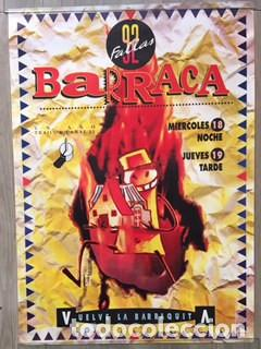 POSTER CARTEL ORIGINAL DISCOTECA BARRACA VALENCIA FALLAS 1992 RUTA DEL BAKALAO DESTROY BACALAO (Coleccionismo - Carteles Gran Formato - Carteles Ferias, Fiestas y Festejos)