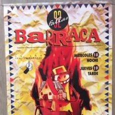 Carteles Feria: POSTER CARTEL ORIGINAL DISCOTECA BARRACA VALENCIA FALLAS 1992 RUTA DEL BAKALAO DESTROY BACALAO. Lote 72871971