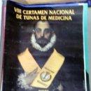 Carteles Feria: BADAJOZ, 1998, CARTEL VIII CERTAMEN NACIONAL DE TUNAS DE MEDICINA, 47X67 CMS. Lote 75243339