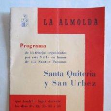 Carteles Feria: PROGRAMA DE FESTEJOS DE LA ALMOLDA 1965. Lote 75769871
