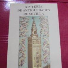 Carteles Feria: CARTEL. XIV FERIA DE ANTIGÜEDADES DE SEVILLA. 1992. PALACIO DE EXPOSICIONES Y CONGRESOS.. Lote 78875821