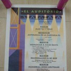 Carteles Feria: CARTEL DE LA EXPO 92 DE SEVILLA EL AUDITORIO. Lote 79989477
