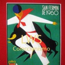 Cartazes Feira: SAN FERMÍN DE 1960, GRANDES CORRIDAS DE TOROS PAMPLONA, PUBLICIDAD IMÁGENES - FERIAS Y FIESTAS S-1. Lote 160329712