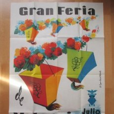 Carteles Feria: CARTEL FIESTAS, GRAN FERIA VALENCIA, 1963, FERIA DE JULIO, CF4. Lote 82487420