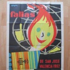Carteles Feria: CARTEL FIESTAS, FALLAS VALENCIA, 1962, FIESTAS POPULARES Y ARTISTICAS, CF8. Lote 82489488