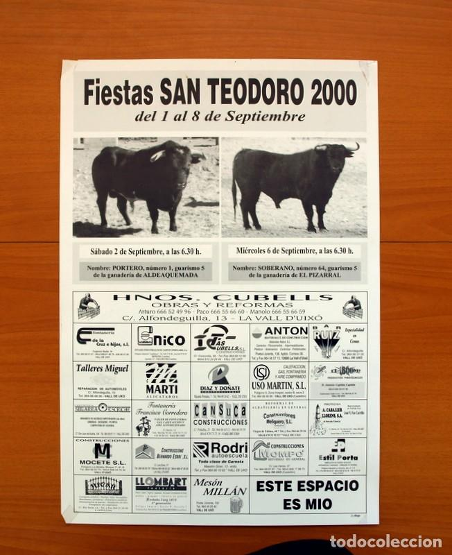 PÓSTER CARTEL - VALL DE UXÓ FIESTAS SAN TEODORO 2000 - TAMAÑO 50X34 (Coleccionismo - Carteles Gran Formato - Carteles Ferias, Fiestas y Festejos)