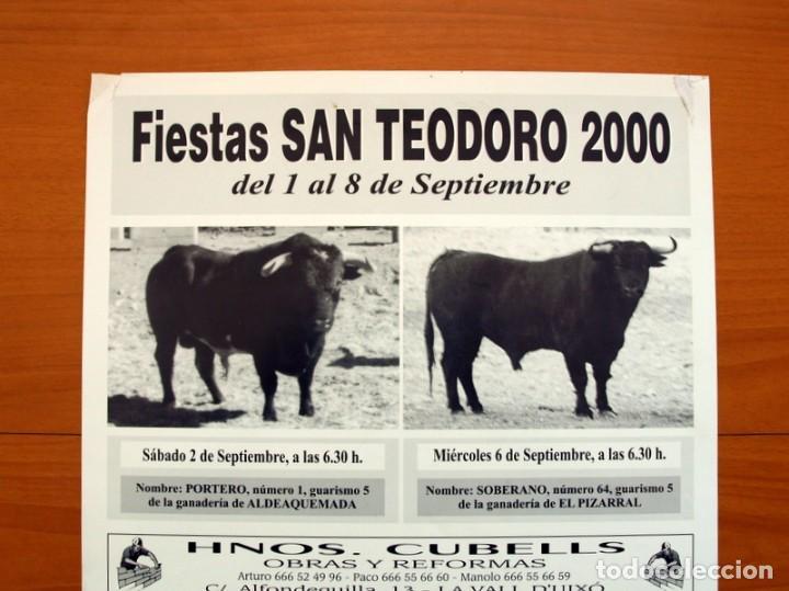 Carteles Feria: Póster cartel - Vall de Uxó Fiestas San Teodoro 2000 - Tamaño 50x34 - Foto 2 - 83390304