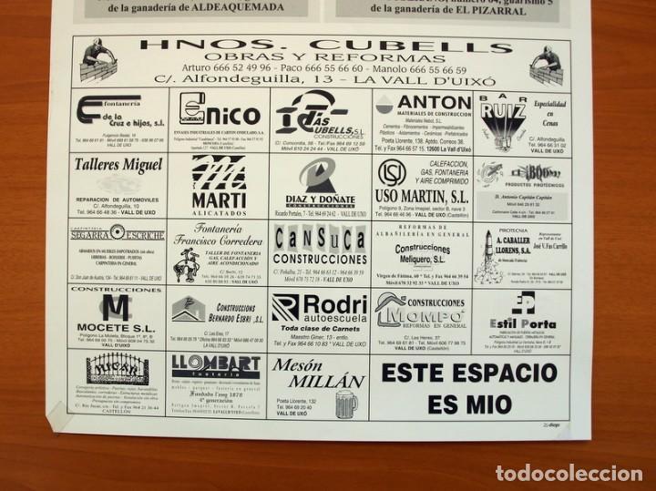 Carteles Feria: Póster cartel - Vall de Uxó Fiestas San Teodoro 2000 - Tamaño 50x34 - Foto 3 - 83390304