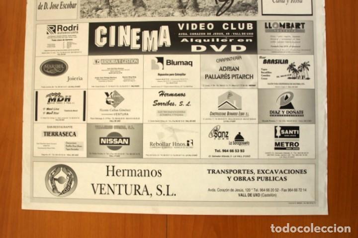 Carteles Feria: Póster cartel -Festes Patronals Sant Vicent Ferrer 1999 -Penya El Tacaet - Vall de Uxó- Tamaño 70x50 - Foto 3 - 83394780