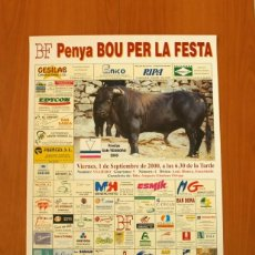 Carteles Feria: PÓSTER CARTEL - FIESTAS SAN TEODORO 2000 PENYA BOU PER LA FESTA - LA VALL DE UXÓ - TAMAÑO 69X49. Lote 83395276