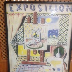 Carteles Feria: CARTEL RAFAEL ZABALETA , GALERIA ADRIA. Lote 83510632