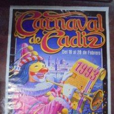 Affissi Fiera: CARTEL. CARNAVAL DE CADIZ. 1993. 99X70 CM. DISEÑOR MARIJUAN.. Lote 83787180