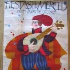 Carteles Feria: CARTEL FIESTAS DE LA MERCED BARCELONA 1967 FESTIVALES DE OTOÑO 68X98CM. Lote 83799440