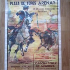 Carteles Feria: CARTEL TOROS PLAZA DE LAS ARENAS DE BARCELONA 1962 54X97CM.. Lote 83800060
