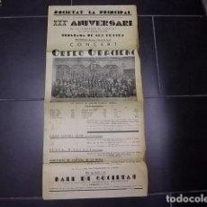 Carteles Feria: VILAFRANCA DEL PENEDES - SOCIETAT LA PRINCIPAL CASAL VILAFRANQUI XXX ANIVERSARI-ANY 1934. Lote 84242680