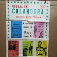 Carteles Feria: FIESTAS DE CALAHORRA 50X87 CM.AÑO 1967,TEATRO IDEAL.COMEDIAS Y TEATRO. Lote 84688916