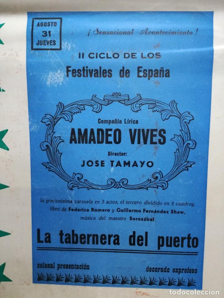 Carteles Feria: FIESTAS DE CALAHORRA 50X87 CM.AÑO 1967,TEATRO IDEAL.COMEDIAS Y TEATRO - Foto 2 - 84688916