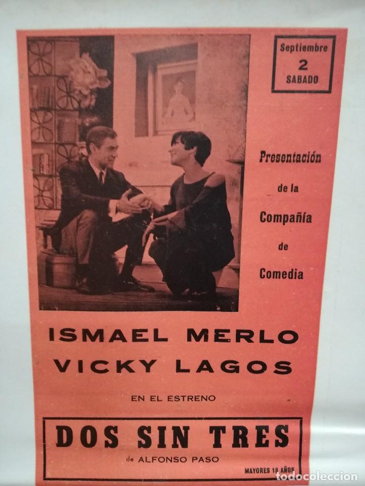 Carteles Feria: FIESTAS DE CALAHORRA 50X87 CM.AÑO 1967,TEATRO IDEAL.COMEDIAS Y TEATRO - Foto 4 - 84688916