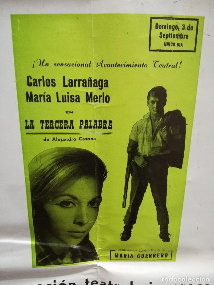 Carteles Feria: FIESTAS DE CALAHORRA 50X87 CM.AÑO 1967,TEATRO IDEAL.COMEDIAS Y TEATRO - Foto 5 - 84688916