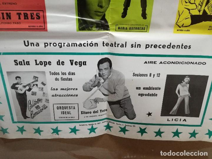 Carteles Feria: FIESTAS DE CALAHORRA 50X87 CM.AÑO 1967,TEATRO IDEAL.COMEDIAS Y TEATRO - Foto 7 - 84688916