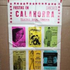 Carteles Feria: FIESTAS DE CALAHORRA 50X87 CM.AÑO 1971,TEATRO IDEAL.LINA MORGAN JUANITO NAVARRO,ADDY VENTURA.... Lote 84689092