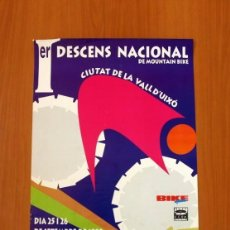 Carteles Feria: PÓSTER CARTEL - PRIMER DESCENS NACIONAL DE MOUNTAIN BIKE - LA VALL DE UXÓ 1999 - TAMAÑO 68X42. Lote 87154132
