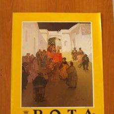 Carteles Feria: PÓSTER CARTEL -ROTA FERIA DE PRIMAVERA 1990 - ARCO CUESTA SAN CAYETANO -FINO TIO MATEO- TAMAÑO 86X55. Lote 87154832