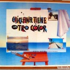 Carteles Feria: CHICLANA TIENE OTRO COLOR - AGENCIA DE TURISMO 1989 - CÁDIZ - PÓSTER TAMAÑO 86X68. Lote 87156408