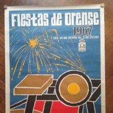 Carteles Feria: OURENSE PUBLICIDAD CARTEL FIESTAS DE ORENSE 1957 GALICIA ILUSTRADOR TUDÓ. Lote 145542857