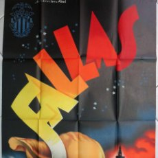 Carteles Feria: CARTEL FALLAS DE VALENCIA 1954 , CARRILERO ABAD , LITOGRAFIA , ORIGINAL. Lote 88991444