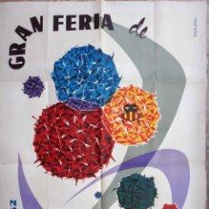 Carteles Feria: CARTEL PUBLICIDAD FERIA DE JULIO DE VALENCIA , 1962 , ORIGINAL. Lote 91396880