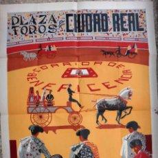 Carteles Feria: CARTEL PUBLICIDAD PLAZA DE TOROS DE CIUDAD REAL , ANTIGUO , ORIGINAL. Lote 91397010