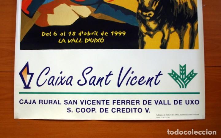 Carteles Feria: Festes Patronals Sant Vicent Ferrer, Vall de Uxó 1999 - Caja Rural San Vicente - Cartel tamaño 71x66 - Foto 3 - 91469720
