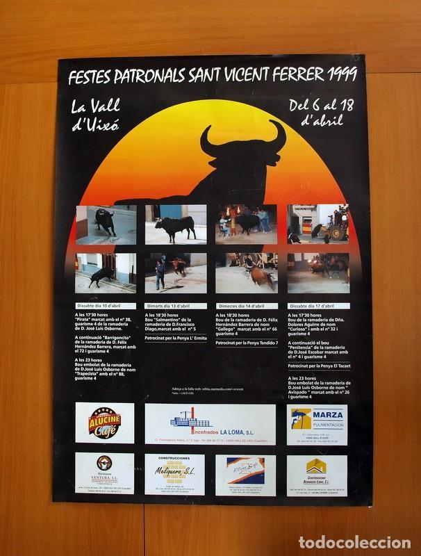 FESTES PATRONALS SANT VICENT FERRER 99, VALL DE UXÓ 1999 - CARTEL TAMAÑO 96X67 (Coleccionismo - Carteles Gran Formato - Carteles Ferias, Fiestas y Festejos)