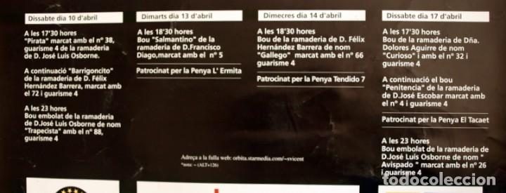 Carteles Feria: Festes Patronals Sant Vicent Ferrer 99, Vall de Uxó 1999 - Cartel tamaño 96x67 - Foto 12 - 91474230