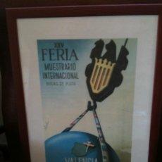 Carteles Feria: XXV FERIA MUESTRARIO INTERNACIONAL 10-25 MAYO 1947. Lote 94386562