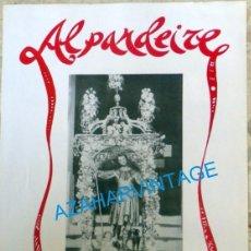 Carteles Feria: ALPANDEIRE, MALAGA, 1996, CARTEL FIESTA DE SAN ROQUE, 35X50 CMS. Lote 95522619