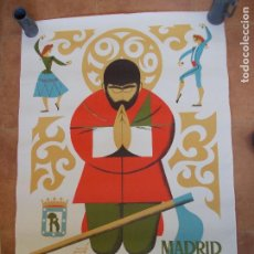 Carteles Feria: CARTEL DE LAS FIESTAS DE SAN ISIDRO MADRID 1969 . Lote 95794779
