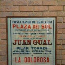 Carteles Feria: CARTEL FIESTA MAYOR DE GRACIA 1964 . Lote 97329151