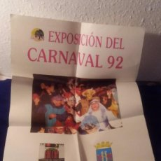Carteles Feria: CARTEL EXPOSICION CARNAVAL 1992 DE BADAJOZ. Lote 97417355