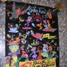Carteles Feria: CARTEL 37 RALLYE HUMORÍSTICO DE REQUENA. AÑO 2008. MIDE 42 X 59 CM.. Lote 98090515
