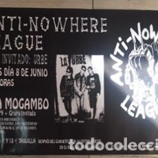 Carteles Feria: POSTER CARTEL ORIGINAL DEL CONCIERTO DE ANTI-NOWHERE LEAGUE Y LA URBE EN VALENCIA 8 JUNIO 2006. Lote 98352067