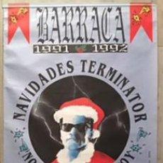 Carteles Feria: POSTER CARTEL DE DISCOTECA BARRACA 1991 1992 VALENCIA RUTA DEL BAKALAO DESTROY NAVIDADES TERMINATOR. Lote 98870375