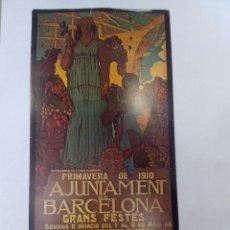 Carteles Feria: CARTEL O REPRODUCCIÓN AYUNTAMIENTO DE BARCELONA 1910. Lote 99140359
