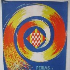 Carteles Feria: GRAN CARTEL - FERIAS Y FIESTAS DE SAN NARCISO - INMORTAL GERONA (GIRONA) - 70X100 - AÑO 1975. Lote 100590671