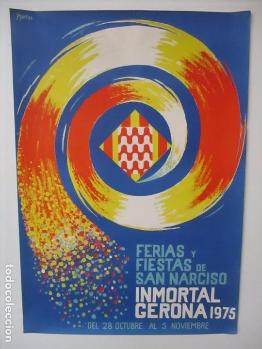 Carteles Feria: Gran Cartel - Ferias y Fiestas de San Narciso - Inmortal Gerona (Girona) - 70x100 - Año 1975 - Foto 2 - 100590671