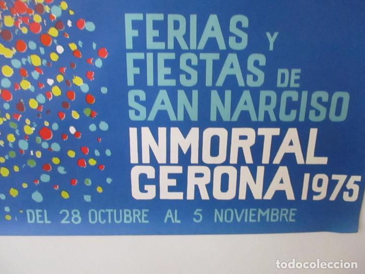 Carteles Feria: Gran Cartel - Ferias y Fiestas de San Narciso - Inmortal Gerona (Girona) - 70x100 - Año 1975 - Foto 7 - 100590671