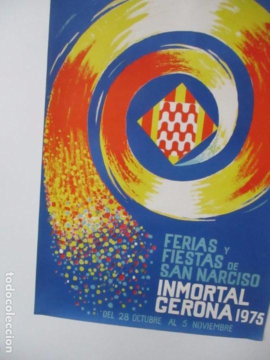 Carteles Feria: Gran Cartel - Ferias y Fiestas de San Narciso - Inmortal Gerona (Girona) - 70x100 - Año 1975 - Foto 9 - 100590671